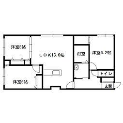 仮)発寒6-5MS[402号室]の間取り