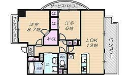 メゾングランプレール[5階]の間取り
