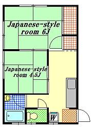 フジミハウス[1階]の間取り