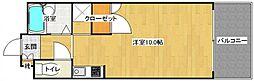 リビング城南II[108号室]の間取り