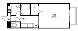 シャルマン愛知川[103号室]の間取り