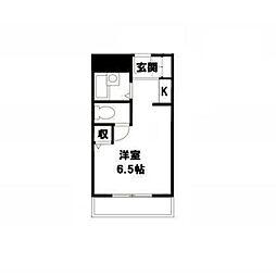 アミケンハイツ6階Fの間取り画像