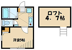 Casa Moma東三田 2階1Kの間取り