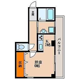 第5サンコーポ森脇[2階]の間取り