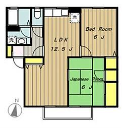 エクレールA棟[2階]の間取り