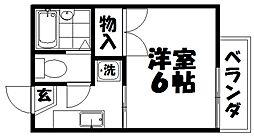コーポマキノ[2階]の間取り