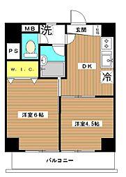 東京都板橋区泉町の賃貸マンションの間取り