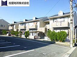 愛知県豊橋市大村町字大賀里の賃貸アパートの外観