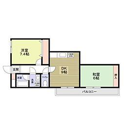 リバティハウス4階Fの間取り画像