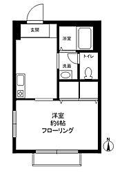 ダインハウス駒沢公園[103号室]の間取り