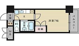ローズコーポ新大阪9[7階]の間取り
