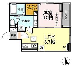 (仮)D-room西平山 3階1LDKの間取り