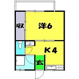 カーサカトー[103号室]の間取り