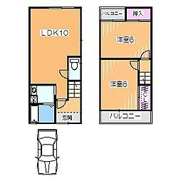 日置荘田中町IKKENYA 1階2LDKの間取り