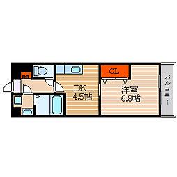 滋賀県彦根市八坂町の賃貸マンションの間取り