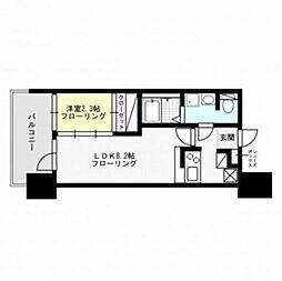 福岡県福岡市早良区西新1丁目の賃貸マンションの間取り