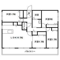 仮)発寒6-5MS[406号室]の間取り