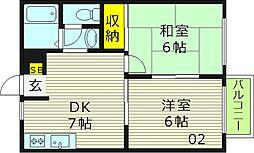 フジ京橋ハイツ[2階]の間取り