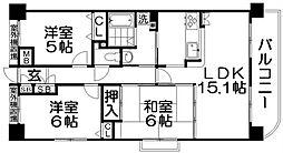 ランフォルセ香里園II番館[9階]の間取り