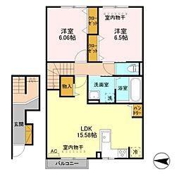 仮)D-room東城町[2階]の間取り