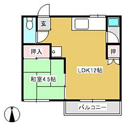 サンシャイン江畑I[2階]の間取り