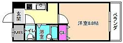 フロンティア長尾[3階]の間取り