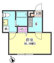 仮)大田区東矢口3丁目1410新築アパート[104号室]の間取り
