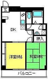 埼玉県さいたま市見沼区東大宮5丁目の賃貸マンションの間取り