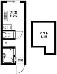 戸塚区上矢部アパートメントB棟[102号室]の間取り