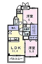 神奈川県横浜市神奈川区菅田町の賃貸マンションの間取り