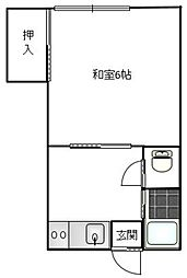 市川コーポ[203号室]の間取り