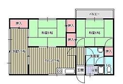 竹田コーポ[301号室]の間取り