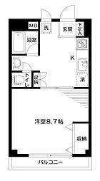 東京都練馬区石神井町5丁目の賃貸マンションの間取り