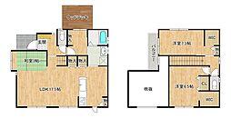 福間南5丁目貸家 1階3SLDKの間取り