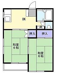 ビューラーA棟[1階]の間取り
