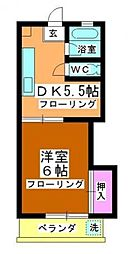 泉ハイツ[3階]の間取り