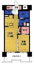 GRAND MAST 広瀬通 8階1LDKの間取り