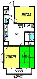 サンヒルズマンション[303号室]の間取り