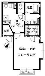 東京都新宿区市谷左内町の賃貸アパートの間取り
