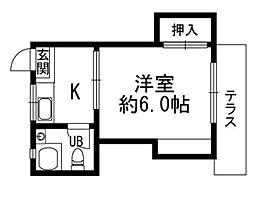 第1栄ビル[303号室]の間取り