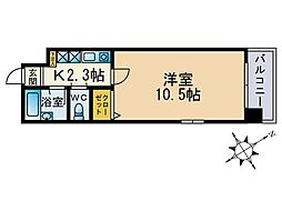 ル・アディッソ福岡[501号室]の間取り