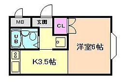 グローイングハウス[2階]の間取り