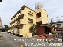 大阪府枚方市町楠葉1丁目の賃貸マンションの外観