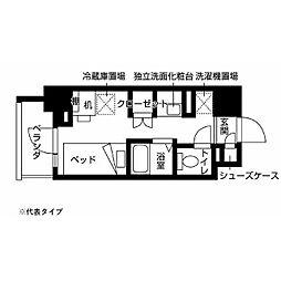 小田急多摩線 小田急多摩センター駅 徒歩10分の賃貸マンション 7階ワンルームの間取り