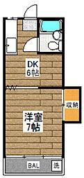 代田マンション1号館[205号室]の間取り