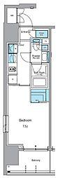 JR山手線 上野駅 徒歩13分の賃貸マンション 2階1Kの間取り