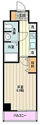 JR中央線 荻窪駅 徒歩14分の賃貸マンション 6階1Kの間取り