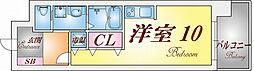 S-FORT神戸神楽町[3階]の間取り