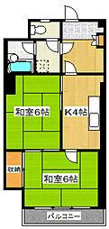 東ビル[401号室]の間取り