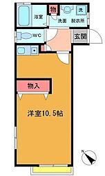 ドミール本八幡[2階]の間取り